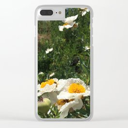 Fried Egg Poppies Clear iPhone Case