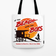 At the Beach with the Boys (90s version) Tote Bag