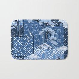 Shibori Quilt Bath Mat