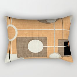 orbs and squares orange Rectangular Pillow