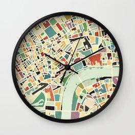 CITY OF LONDON MAP ART 01 Wall Clock