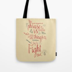 Grace Hopper sentence - I always try to Fight That - Color version, inspiration, motivation, quote Tote Bag