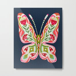 Butterfly no. 2 floral butterfly art Metal Print