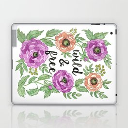 Wild & Free Watercolor Illustration Laptop & iPad Skin