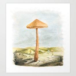 Mushland - Watercolors Art Print