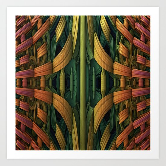 Fractal Jungle Art Print