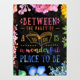 Between the pages - black Poster