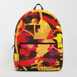 Blowing In The Wind Floral Backpack