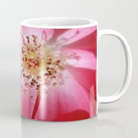 hot pink Mugs featuring Hot Pink by Zayda Barros