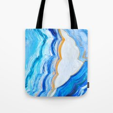 Blue and gold agate Tote Bag