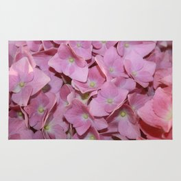 Pink Hydrangea Flowers Background Rug