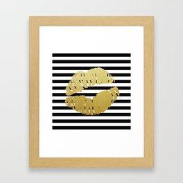 Golden Lips I Framed Art Print