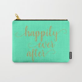 Happily Ever After - Mint and Gold Carry-All Pouch