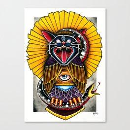 Cat Owl Canvas Print