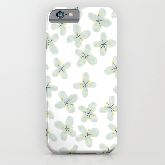 Blue Cherry Blossom iPhone & iPod Case