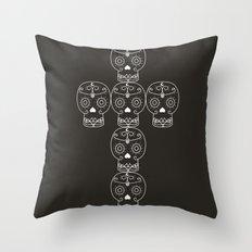 skull cross Throw Pillow