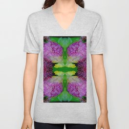 may peonies on placement  Unisex V-Neck