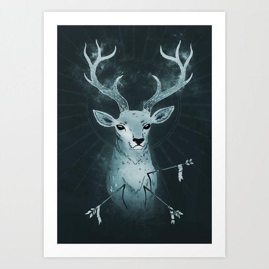 White Hart Killer Art Print