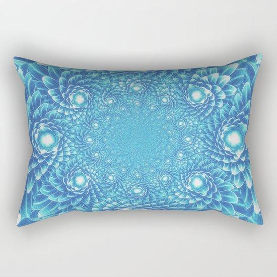 Fresh Modern Green Warp Cactus Pattern Fractal Art! Rectangular Pillow