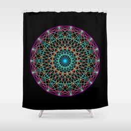Sacred geometry Shower Curtain