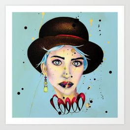 Madame Melancholy Art Print