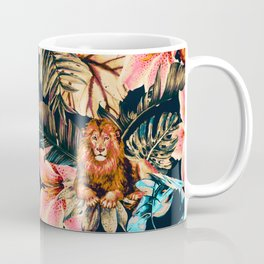 Wild animals in the dark of the jungle 2 Coffee Mug