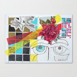 Contemplation Rose (Blanche No. 1) Canvas Print