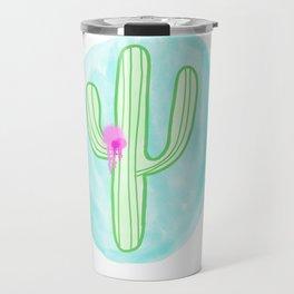 Spray Painted Catus Travel Mug