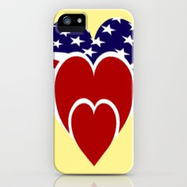 Love the Stars and Stripes iPhone Case