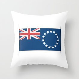 Flag of Cook Islands. The slit in the paper with shadows. Throw Pillow