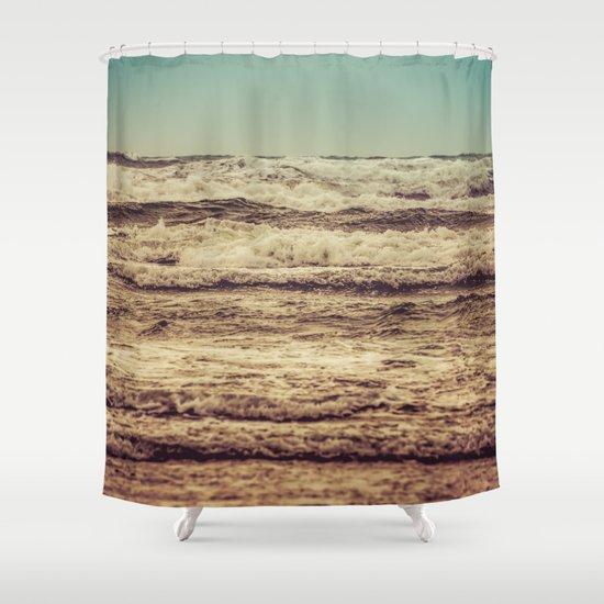 Ocean Crush Shower Curtain by cascadia   Society6