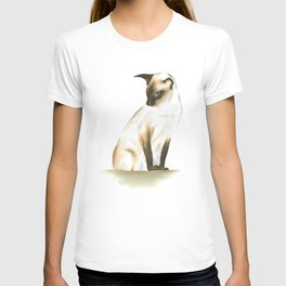 seal point siamese cat 1 T-shirt