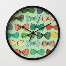 All the Bow Ties Wall Clock