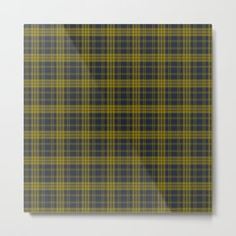 Navy Blue & Yellow Plaid Metal Print