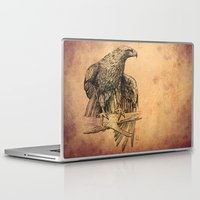 falcon Laptop & iPad Skins featuring Falcon illustration by Thubakabra