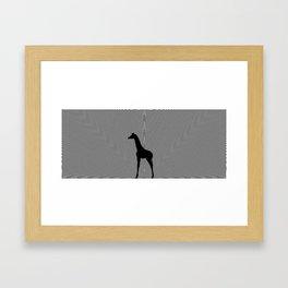 Giraffe Psychedelic Silhouette  Framed Art Print
