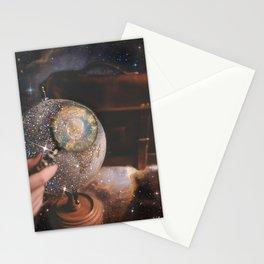 Glittery Globe Stationery Cards