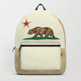 Vintage California Flag Backpack