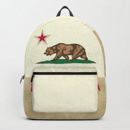 Vintage California Flag Backpack