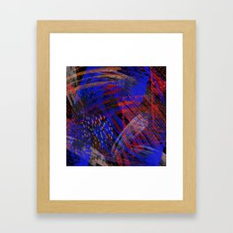 Abstract blue background Framed Art Print