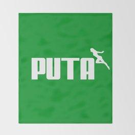 PUTA - PUMA PARODY Throw Blanket