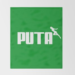 PUTA - PUMA PARODY Throw Blanket