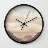 montana Wall Clocks featuring Montana Morning by Kurt Rahn