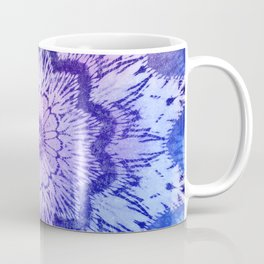 tie dye mandala in blue hues Coffee Mug