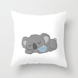 Certified Koala Lover? Cute t-shirt design with an illustration of a Cute Koala Sunglasses Phone Throw Pillow
