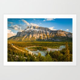 Mount Rundle at Sunset – Banff, Canada Art Print