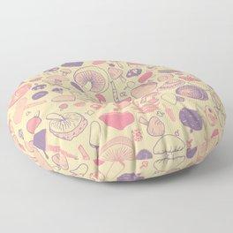 Vintage Mushroom Pattern Floor Pillow