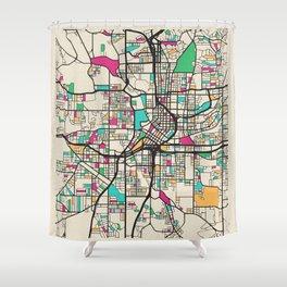 Colorful City Maps: Atlanta, Georgia Shower Curtain
