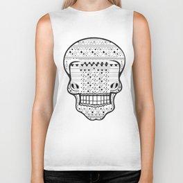 B/W Skull 1 Biker Tank