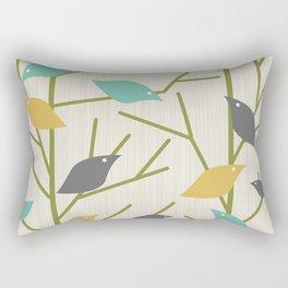 Mid Century Modern Birdsong Rectangular Pillow